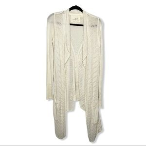 ANGEL OF THE NORTH ANTHRO / cream open cardigan